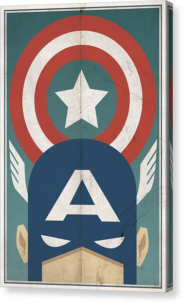 Hero Canvas Print - Star-spangled Avenger by Michael Myers