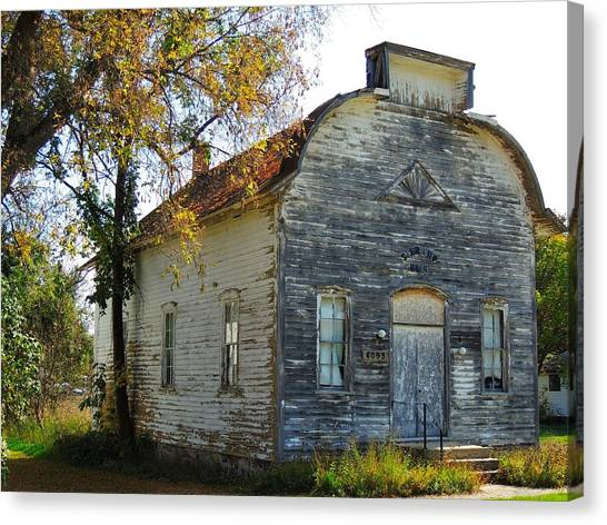 Star Township Building Canvas Print by Mikel Classen