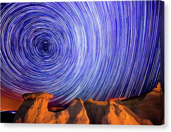 Star Trails Over The Colorado Paint Canvas Print