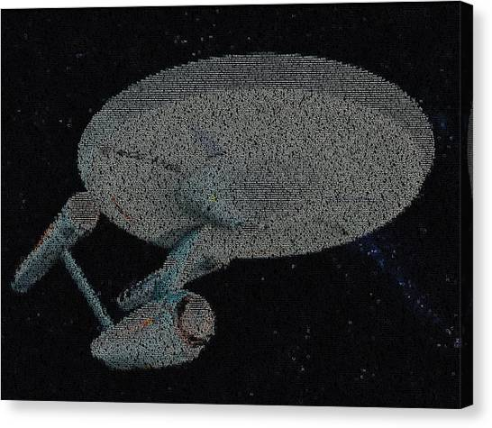 James T. Kirk Canvas Print - Star Trek Enterprise Episode Mosaic by Paul Van Scott