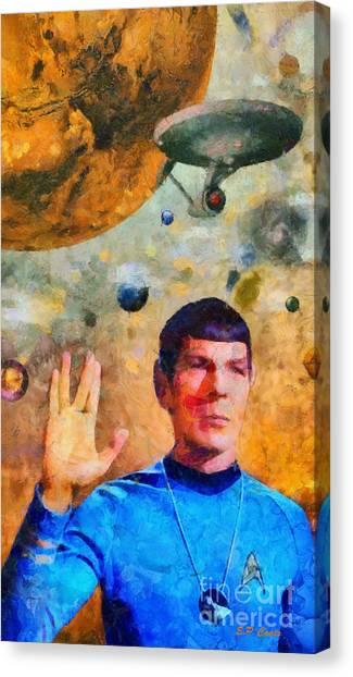 Star Trek-leonard Nimoy Canvas Print