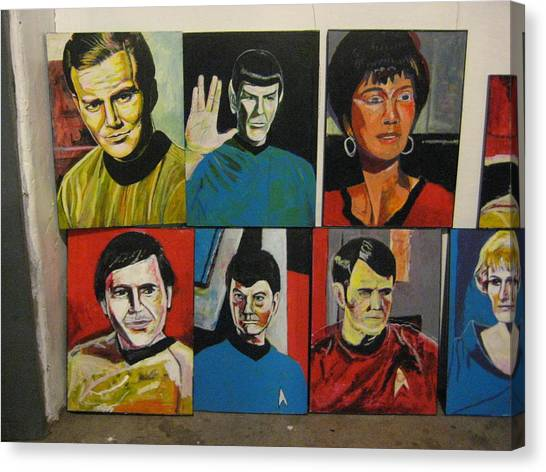 Uhura Canvas Print - Star Trek Paintings - Kirk Spock Uhura Chekov Mccoy Scotty Chapel by David Lovins
