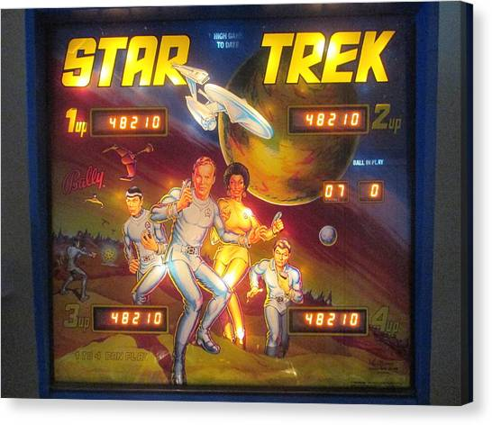 Uhura Canvas Print - Star Trek Pinball Screen  by David Lovins