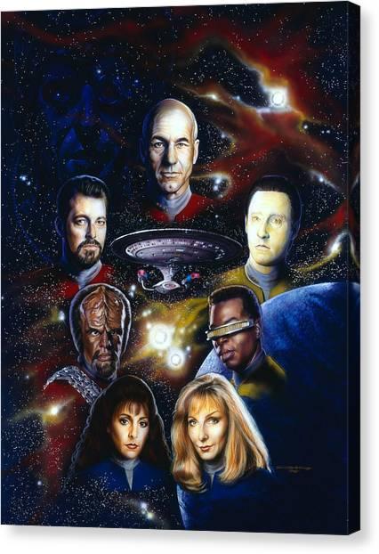 Star Trek Canvas Print - Star Trek Tng by Timothy Scoggins