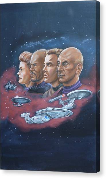 Star Trek Tribute Captains Canvas Print