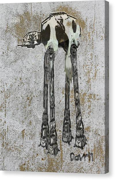 Star Wars At-at Cow Graffiti Canvas Print