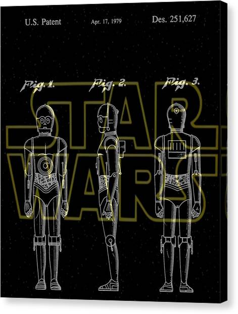 C-3po Canvas Print - Star Wars C-3po Patent by Dan Sproul