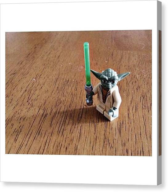 Yoda Canvas Print - Star Wars Legos All Over My House by Marchellem Mosley