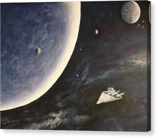 Star Wars Mural Canvas Print