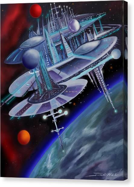 Stellar Canvas Print - Starbase I - Alisona  by James Christopher Hill