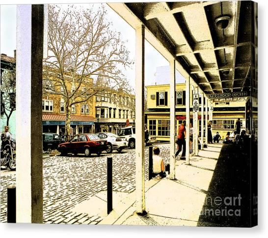 Starbucks - Doylestown Canvas Print by Addie Hocynec