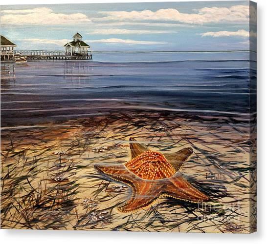 Starfish Drifting Canvas Print