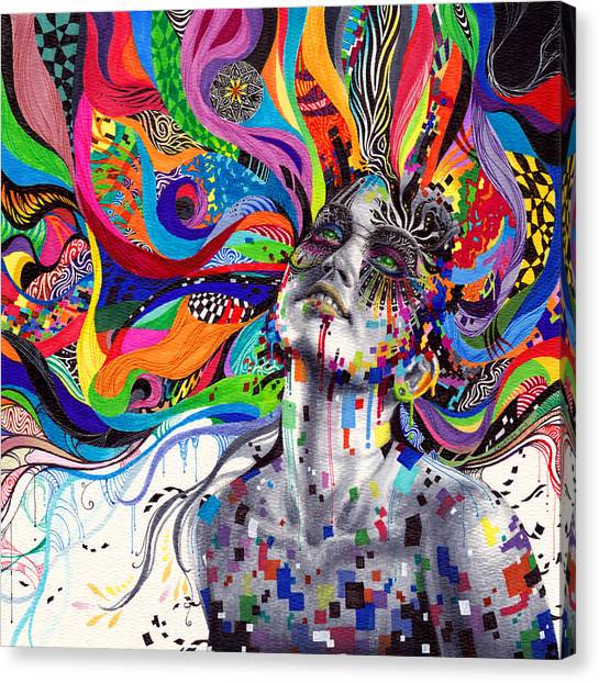 Pattern Canvas Print - Stargaze by Callie Fink