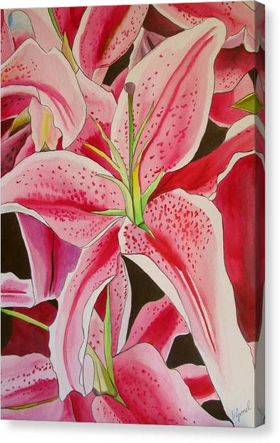 Stargazer Lily Canvas Print by Sacha Grossel