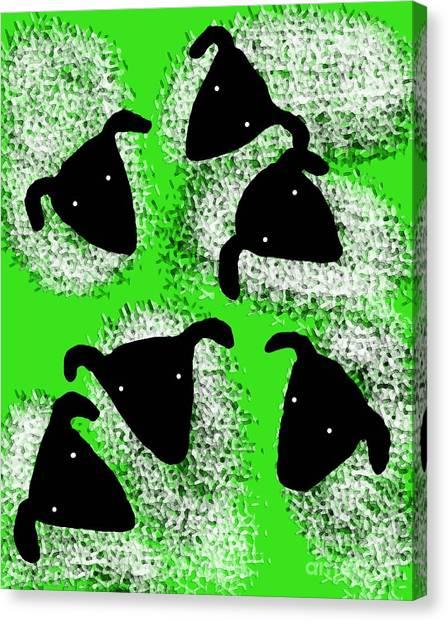 Stargazing Sheep Canvas Print
