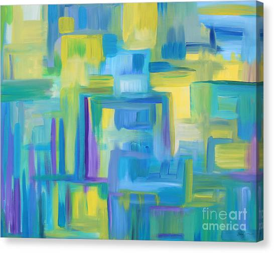 Starry Night Abstract Canvas Print