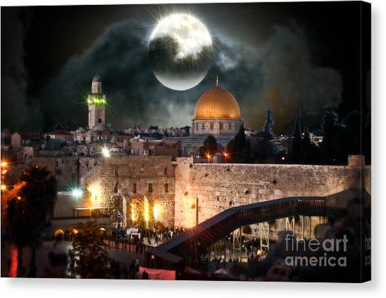 Full Moon Israel Canvas Print