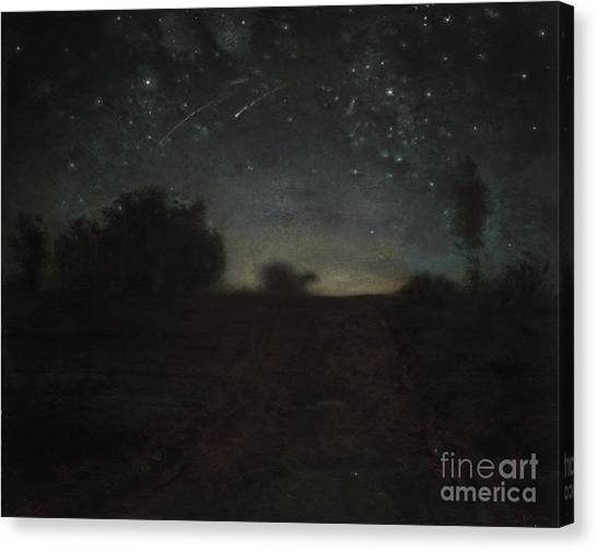 Shooting Stars Canvas Print - Starry Night by Jean-Francois Millet