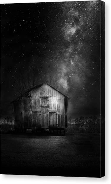 Horse Farms Canvas Print - Starry Night by Marvin Spates