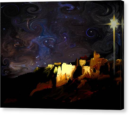 Starry Starry Bethlehem Night Canvas Print by Ron Cantrell