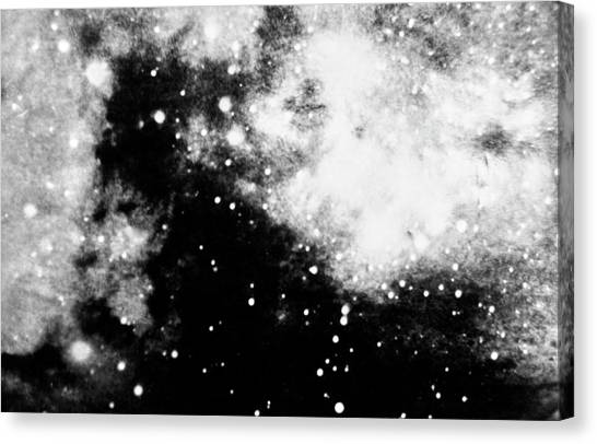 1972 Canvas Print - Stars And Cloud-like Forms In A Night Sky by Duane Michals