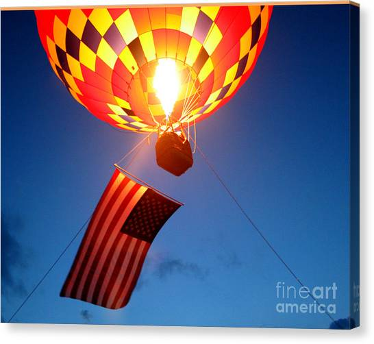 Girl Scouts Canvas Print - Stars And Stripes Glow by Paul Anderson