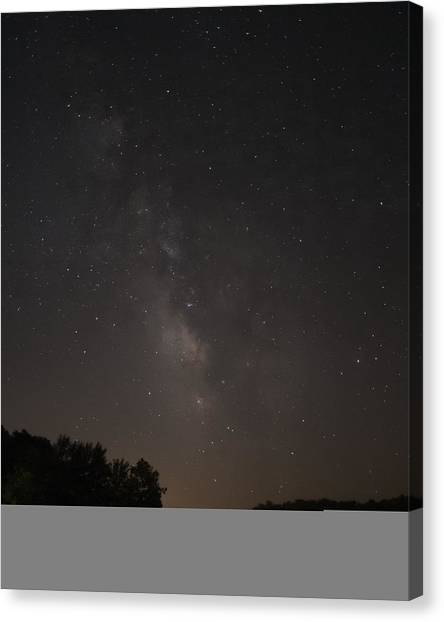 Stars On Lake Logan Canvas Print