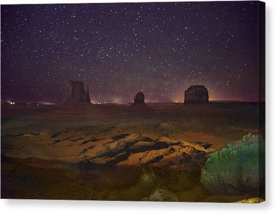 Stars Over Monument Valley Canvas Print