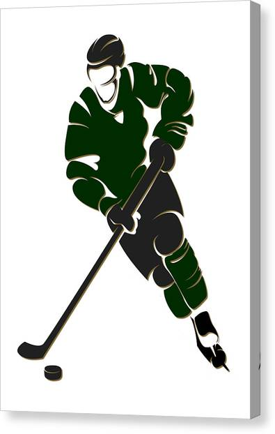 Dallas Stars Canvas Print - Stars Shadow Player by Joe Hamilton