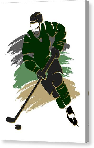 Dallas Stars Canvas Print - Stars Shadow Player2 by Joe Hamilton