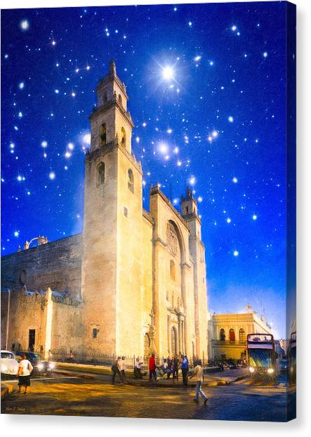 Stars Shine On Merida Canvas Print by Mark Tisdale