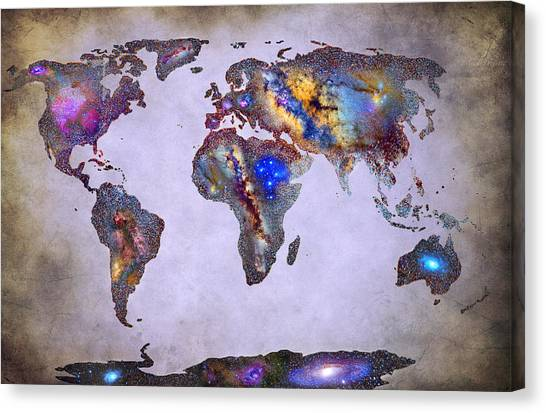 Andromeda Canvas Print - Stars World Map Space by Guido Montanes Castillo