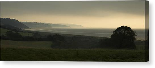 Start Bay Devon At Dawn Canvas Print