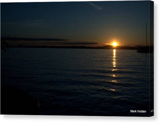 Start To A Brand New Day Canvas Print by Mark Holden