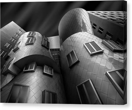 Modern Architecture Canvas Print - Stata Center by Louis-philippe Provost