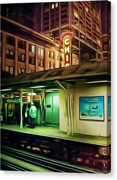Subway Canvas Print - State And Lake by Scott Norris