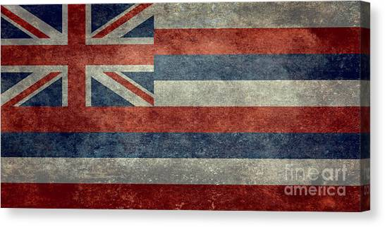 State Flag Of Hawaii Vintage Version Canvas Print