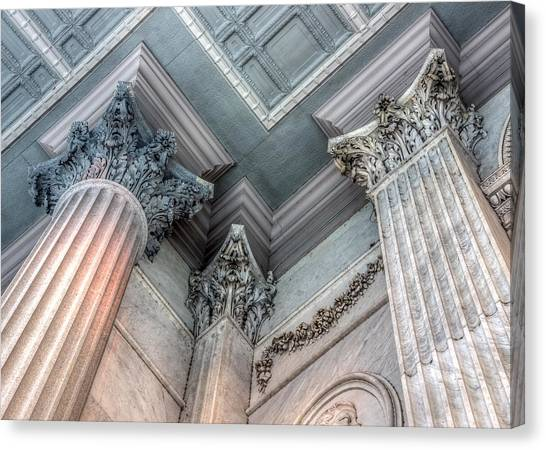 State House Exterior Columns Canvas Print