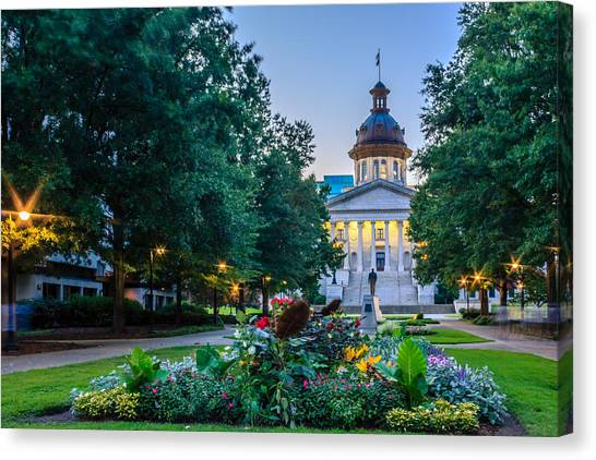 State House Garden Canvas Print