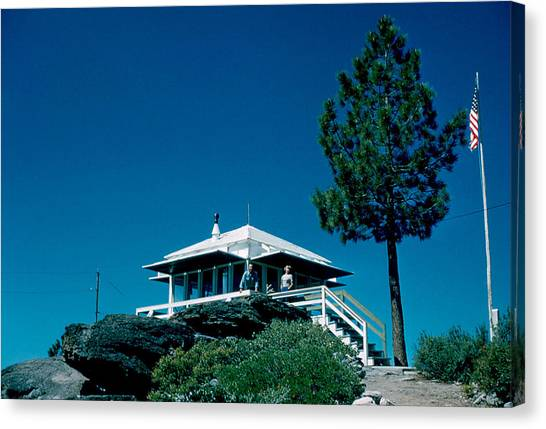 State Line Lookout 1956 2 Canvas Print by Cumberland Warden