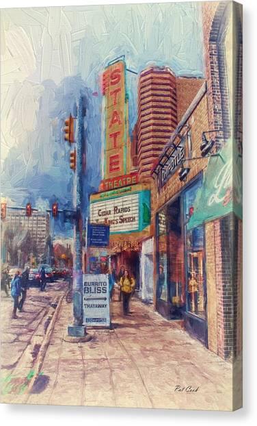 State Street Impasto Canvas Print
