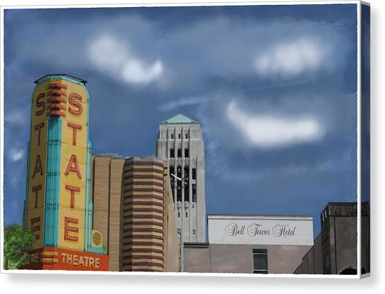 State Theater Canvas Print by C A Soto Aguirre