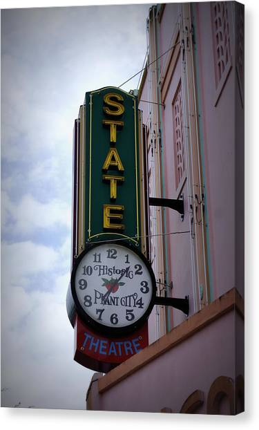 State Theatre Sign Canvas Print