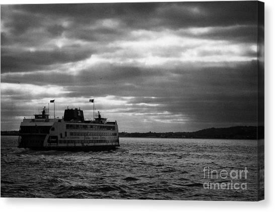 Manhatan Canvas Print - staten island ferry Andrew J Barberi heading towards staten island by Joe Fox