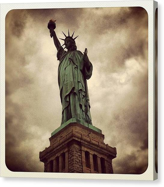 Symbolism Canvas Print - #statue #liberty by Hugo Lemes