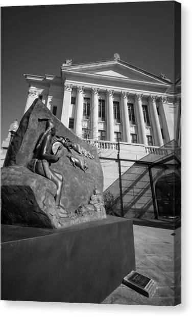 Statue Near The Capital Canvas Print