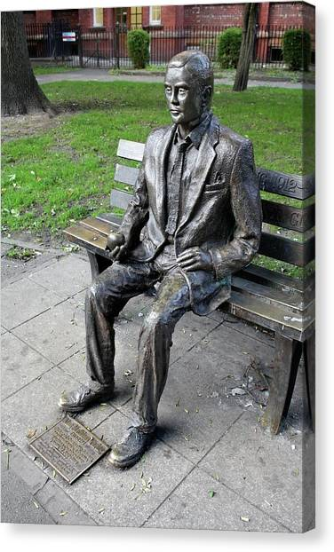 Computer Science Canvas Print - Statue Of Alan Turing by Martin Bond