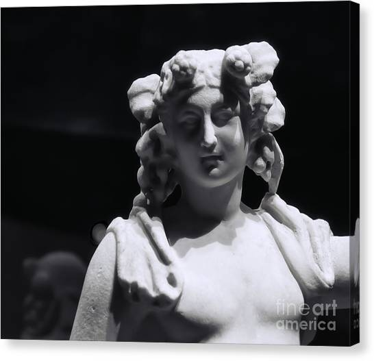 Statue Of Dionysus Canvas Print