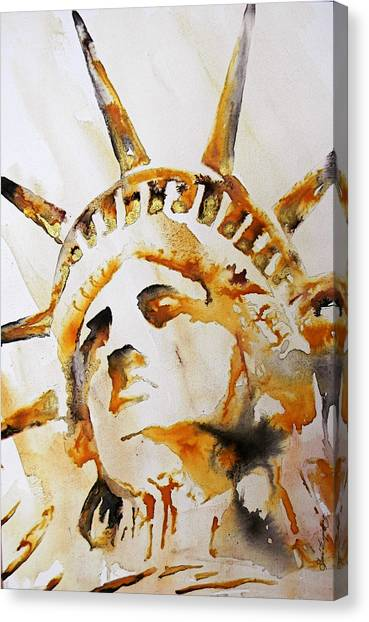 Statue Of Liberty Closeup Canvas Print