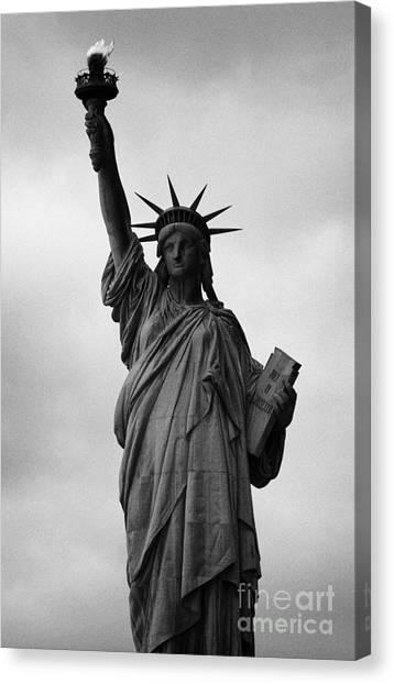 Manhatan Canvas Print - Statue Of Liberty National Monument Liberty Island New York City Nyc by Joe Fox